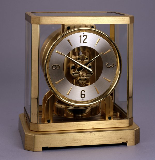 An Atmos clock.  Jaeger Le Coultre, Switzerland, 1947 (British Museum reg. No. 1986,1025.1)