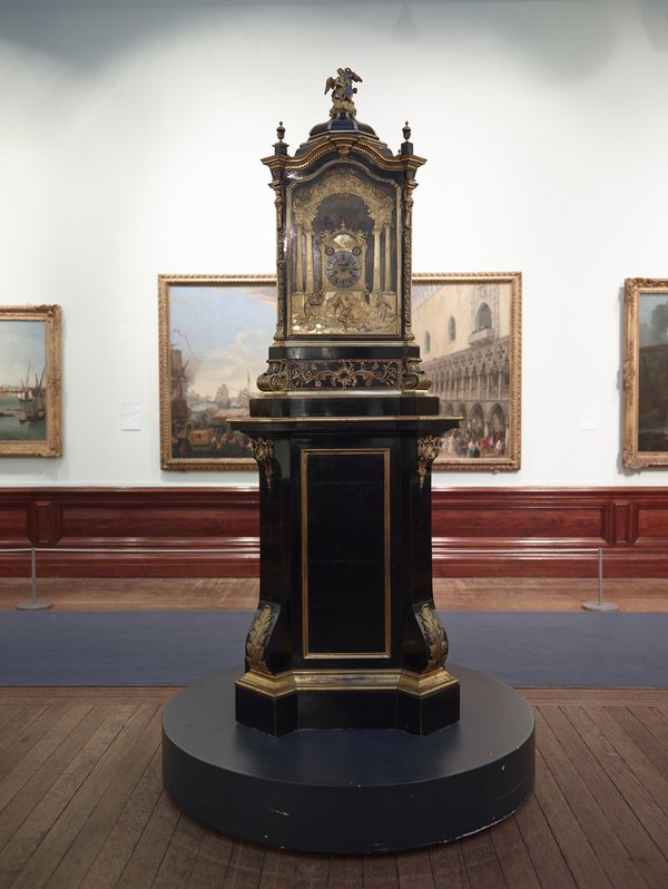 Charles Clay's musical clock, dated 1730, currently on display in the Handel House Museum, is a loan from the Birmingham Museum and Art Gallery (photo courtesy of Birmingham Museums Trust)
