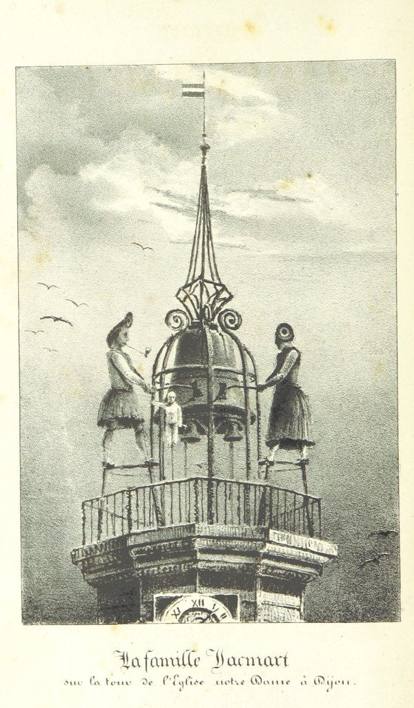 """La famille Jacmart"" from P. Berigal, L'Illustre Jaquemart de Dijon, 1832 (British Library)"