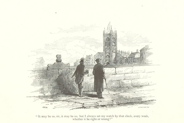 """ ... whether it be right or wrong!"" from Richard Parkinson, The Old Church Clock, 1880 (British Library)"