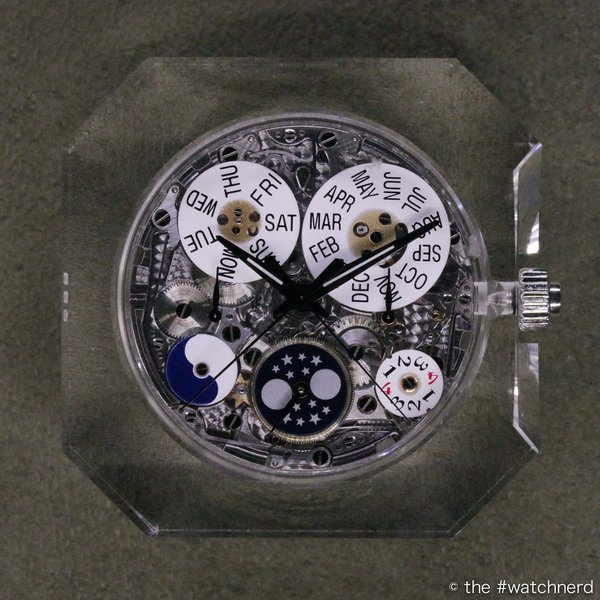 Calibre CHR 29-535 PS Q, just one of 49 watch movements on display