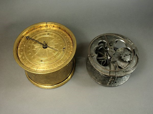 Spring-driven table clock, made by anon. in (probably) Germany, c.1560   (British Museum, reg. No. 1958,1006.2112)