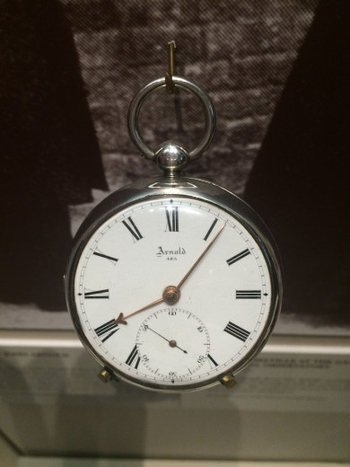 The Belville family's pocket watch, 'Arnold', at the Clockmakers' Museum