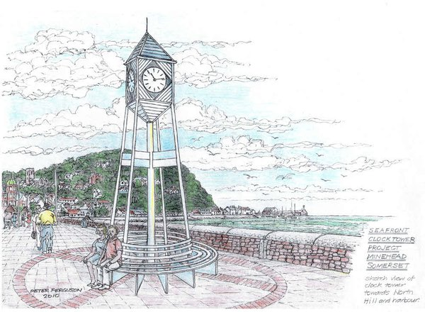Artist's impression Minehead clocktower
