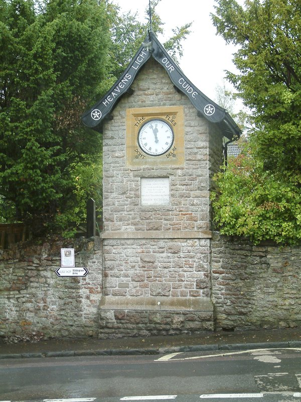 The 1897  clocktower at East Harptree, Somerset