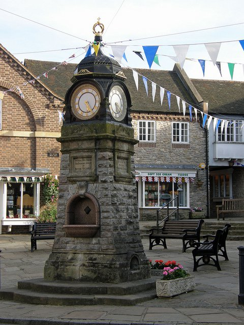 The 1897 clocktower at Much Wenlock, Shropshire