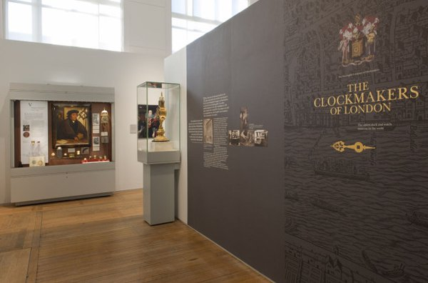 Gallery view of the Clockmakers' Museum.  The world's oldest clock and watch collection includes more than 600 watches, 30 clocks and 15 marine timekeepers, which map the history of innovation in watch and clock making in London from 1600 to the present day.
