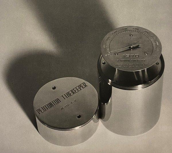 Plutonium timekeeper buried at Osaka, 1970 (courtesy of Panasonic Corporation)