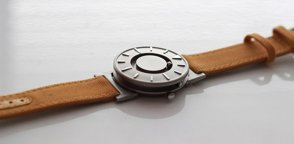 "The ""Bradley"" wrist watch with ball-bearing touch indication, made by Eone in China, 2014"