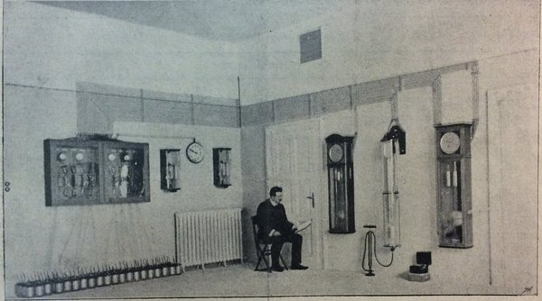 The clock room in the Urania observatory