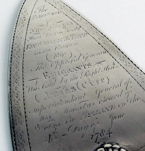 The 'New Geneva' Trowel (on display at Waterford Museum of Treasures, courtesy of Gerry Halley)