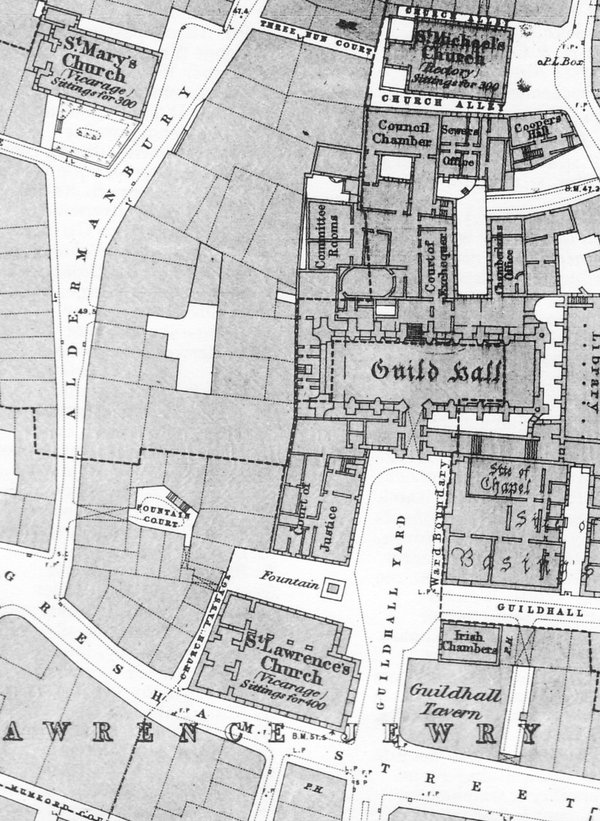 Guildhall old map