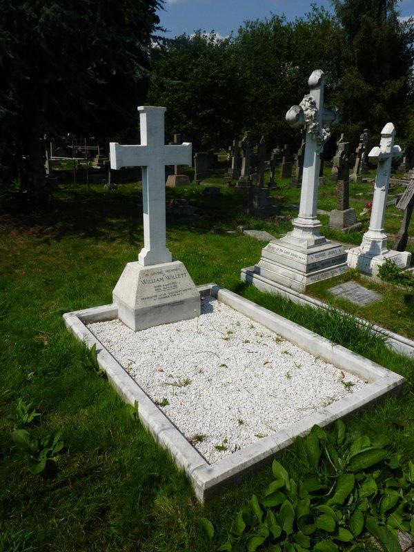 William Willett's grave (David Rooney)