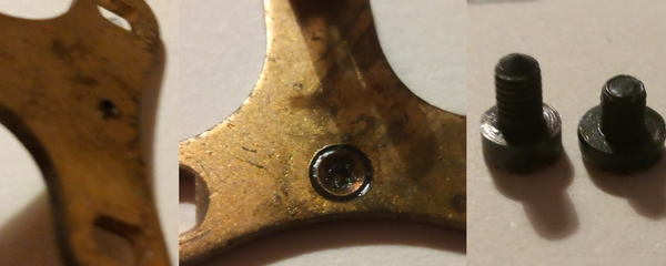 Re-bushing on the backcock and screws