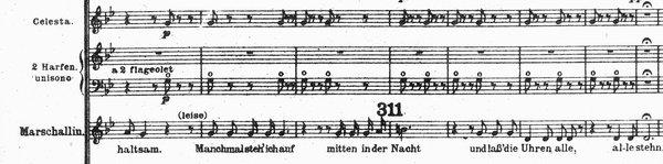 Der Rosenkavalier: 'Manchmal steh' ich auf mitten in der Nacht und lass die Uhren alle, alle stehn' –  At times I get up in the middle of the night and stop all the clocks, all of them