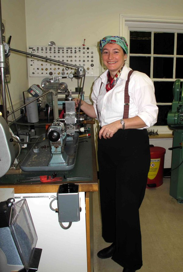 Student-Francoise-Collanges-at-the-Lathe