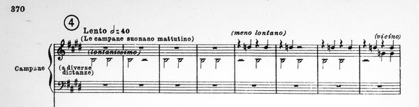 Tosca: 'The bells chime for matins'- 'at various distances' – 'less distant' – 'nearby'