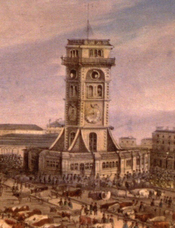 ... the artist has misrepresented the clock tower