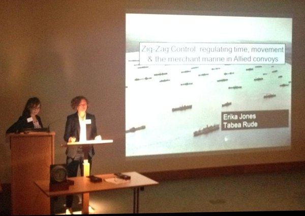 Speakers Erika Jones and Tabea Rude and a North Atlantic convoy