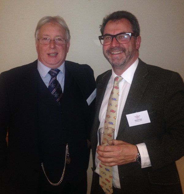 Outgoing AHS Chair David Thompson (left), with new chair James Nye (right)