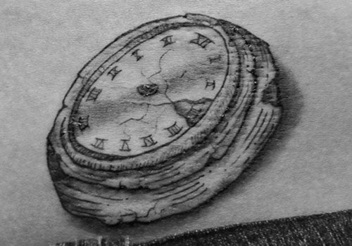 Prisoners doing long sentences don't like to count the days so have clock tattoos without hands to show that time to them is meaningless