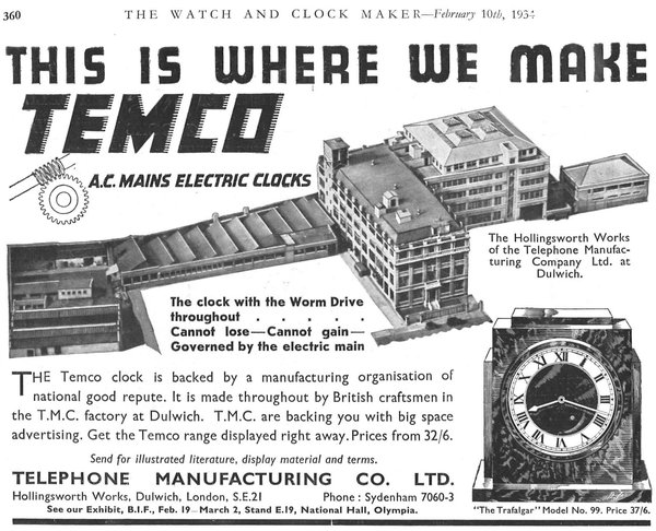 Advertisement, Watch and Clockmaker (1934). The building has changed little since