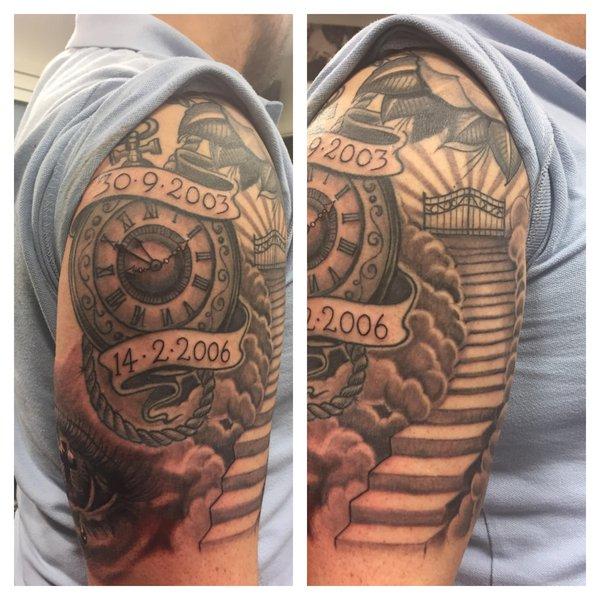 A tattoo commemorating a death